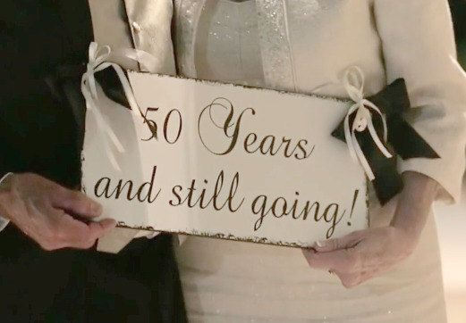 50th Anniversary Sign - Golden Anniversary  -  50 years and still going, Anniversary Wedding Sign, 40th Anniversary, Ruby Anniversary