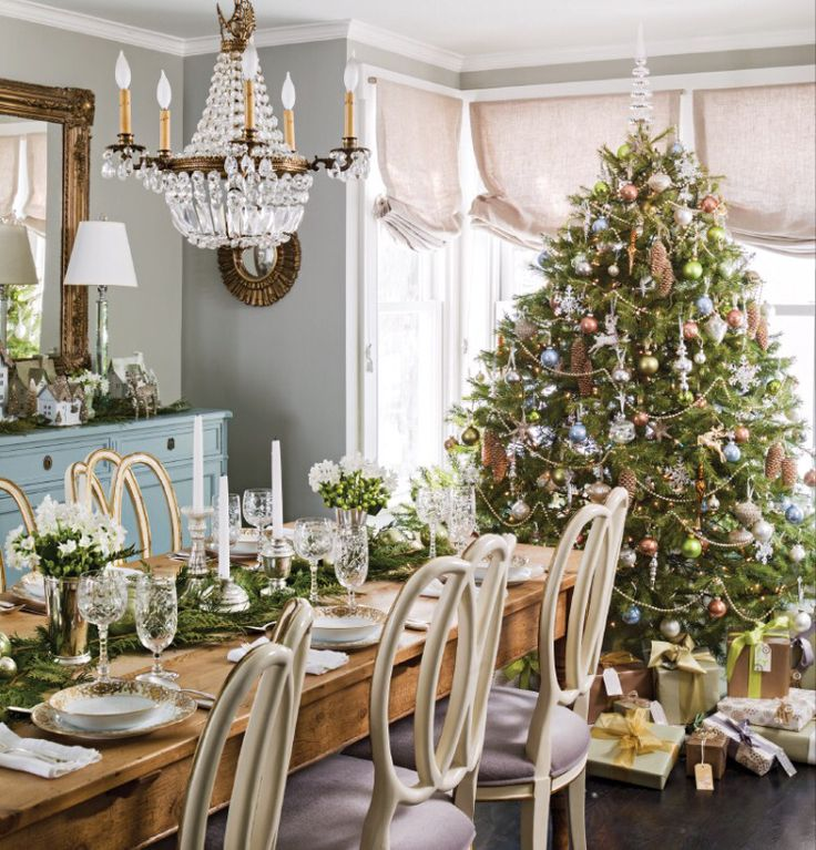 559 best christmas dining rooms images on pinterest christmas want a designer look for your holiday tree browse our best tips for better christmas tree decor that you can easily do yourself solutioingenieria Images