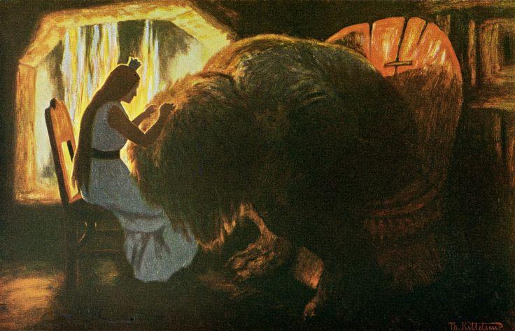 Theodor SeverinKittelsen -The Princess Grooms the Troll. 1900