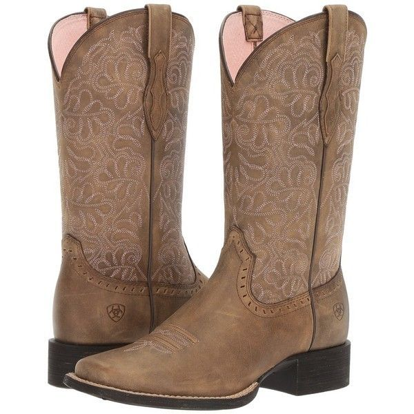 7261ed614c3 Ariat Round Up Remuda (Brown Bomber) Cowboy Boots ($160) ❤ liked on ...