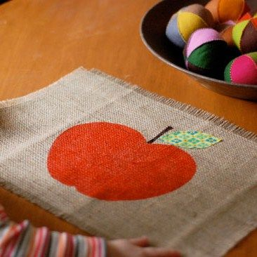 autumn crafts place mat