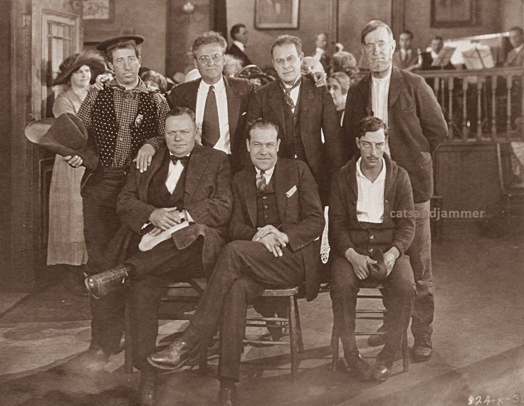 CatsandJammer - On the set of Mike (1926) Hank Mann, Marshall Neilan, Ford Sterling, Charlie Murray, Roscoe, Eddie Mannix, Buster