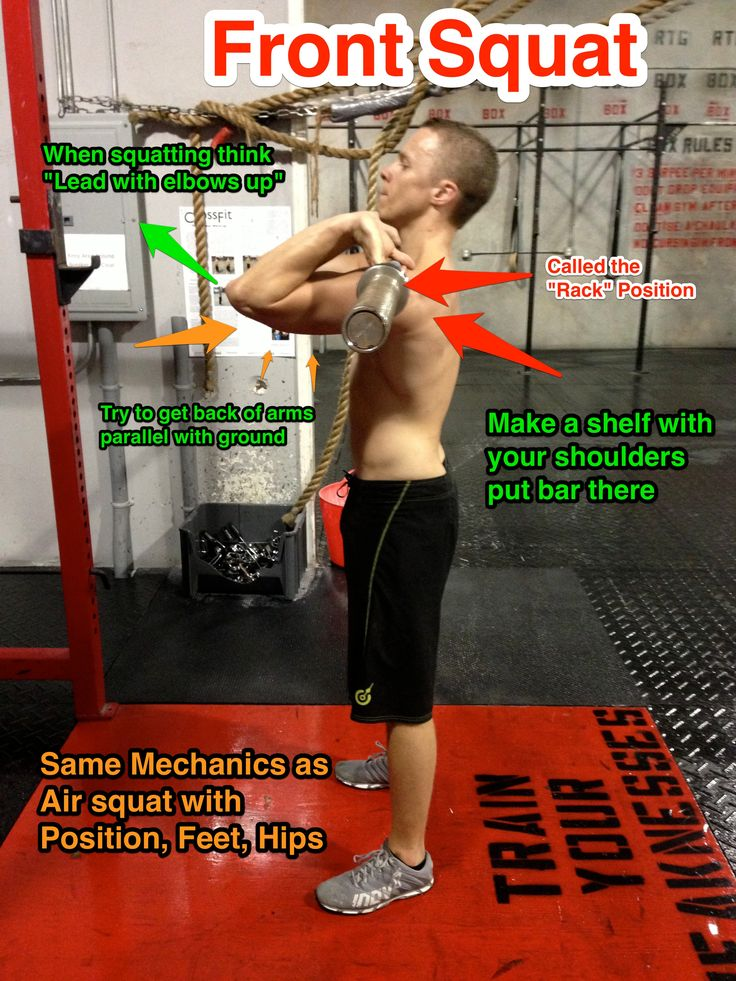 Front squat 1 - the rack