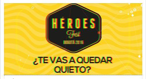 Felices de participar en el festival de innovación, emprendimiento, educación, ciencia y tecnología más importante del país, basado en la colaboración, la visión, la determinación y la pasión para diseñar y transformar el futuro de Colombia los días 24, 25 y 26 de noviembre en Bogotá. http://heroesfest.co/#/