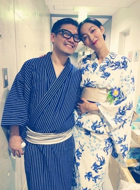 Model Ayumi Tanabe with Designer Keita Maruyama | Instagram