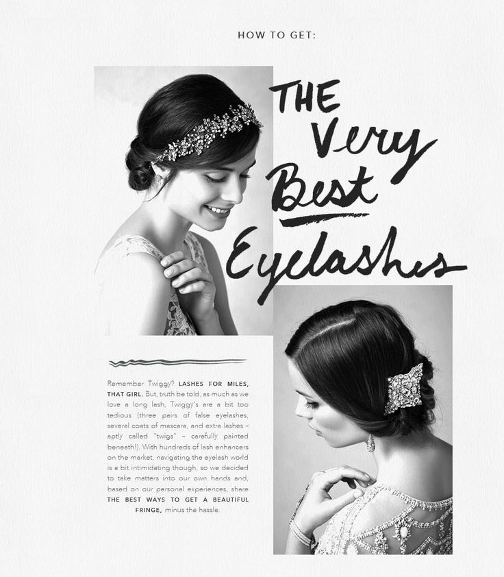 tips + tricks | how-to get your very best eyelashes for your wedding day | via: b-inspired