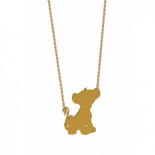 Disney Couture Lion King Simba Necklace at aquaruby.com