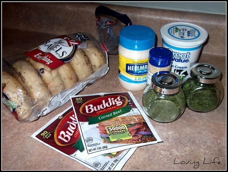 Loving Life: Mom's Bagel Dip
