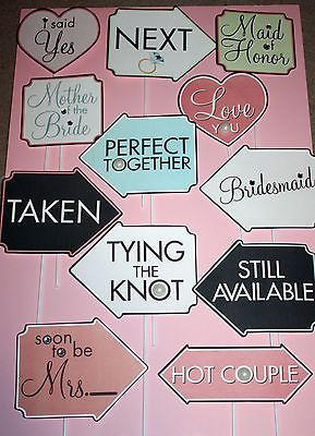 LOT 12 WEDDING Photo Booth Props Party Birthday Event Photos NEW! 1 FREE Lot B