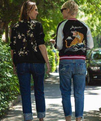 Topshop colorful reversible bomber jacket I Zara floral bomber jacket I #streetstyle #point41