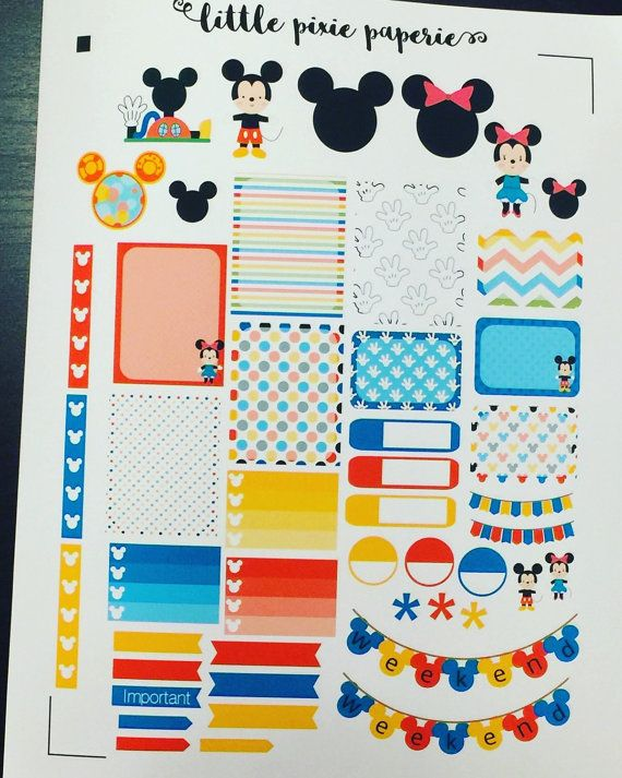 Disney Planner Stickers Mouse Erin Condren by LittlePixiePaperie