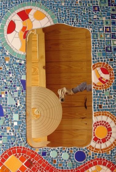 sietecolores: tutorial: espejo en venecitas, mosaiquismo (parte 5)
