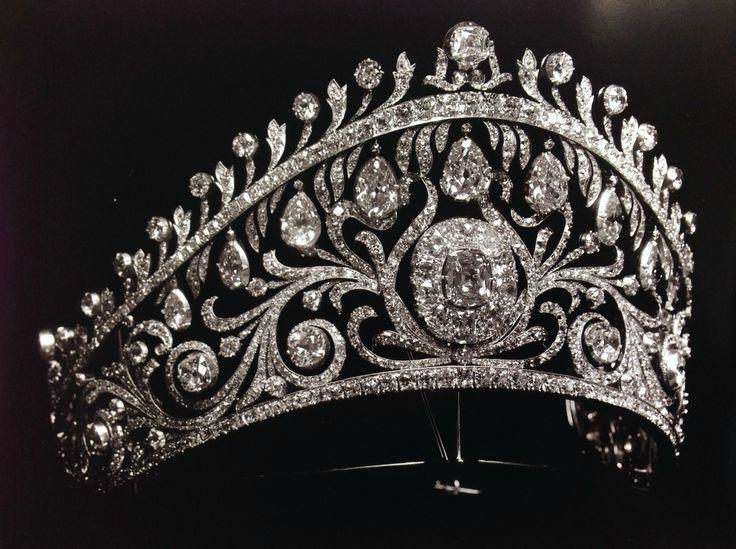 "sofierceoh: "" Diamond Kokoshnik by Cartier. It was commissioned by Grand…"