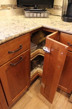 Cherry Cabinets with Quartz Countertop ~ Strongsville, OH #1 transitional-kitchen-drawer-organizers