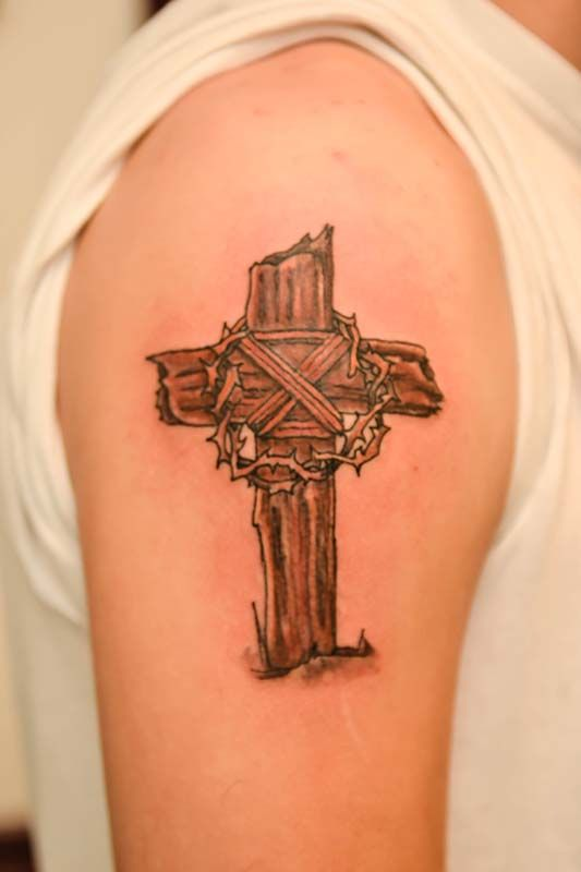 17 Best Ideas About Wooden Cross Tattoos On Pinterest