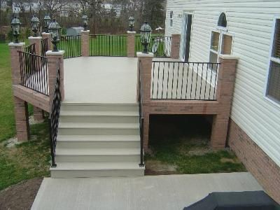 26 best ideas about fortress fe26 iron railing on for Concrete patio railing
