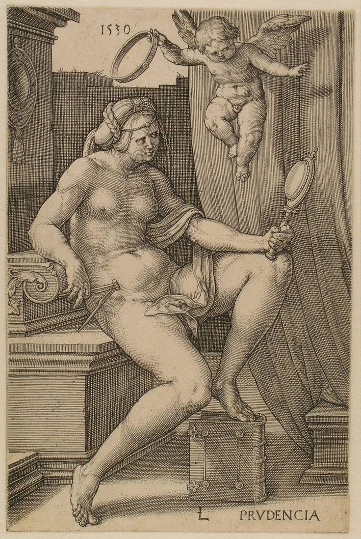 Prudentia (Prudence), Lucas van Leyden, 1530 | Museum Boijmans Van Beuningen