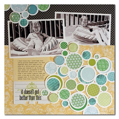 Lily Bee blog - love the colours and the circles: Scrapbook Ideas, Circles, Scrapbook Cards, Lilies Bees, Scrapbook Inspiration, Summer Fullerton, Color, Scrapbook Layout, Photo