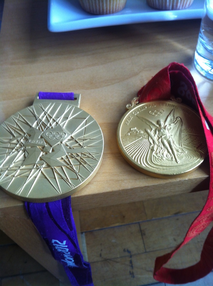 London 2012 Gold medal close-up. (Team GB's Pete Reed's for men's coxless four)