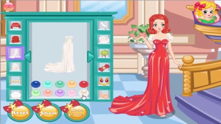 Disney Princess games Ariel Manga Wedding  डिज्नी राजकुमारी एरियल मंगा व...