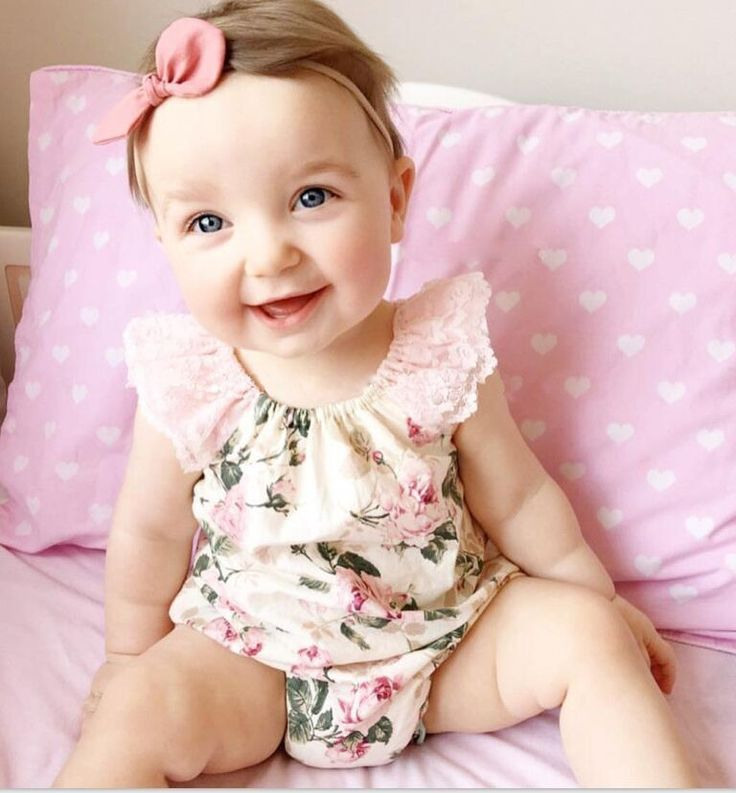 Baby Girls Rompers Infant Clothes Cute Floral Short Sleeve Newborn Baby Lace Romper One Piece Baby Clothing