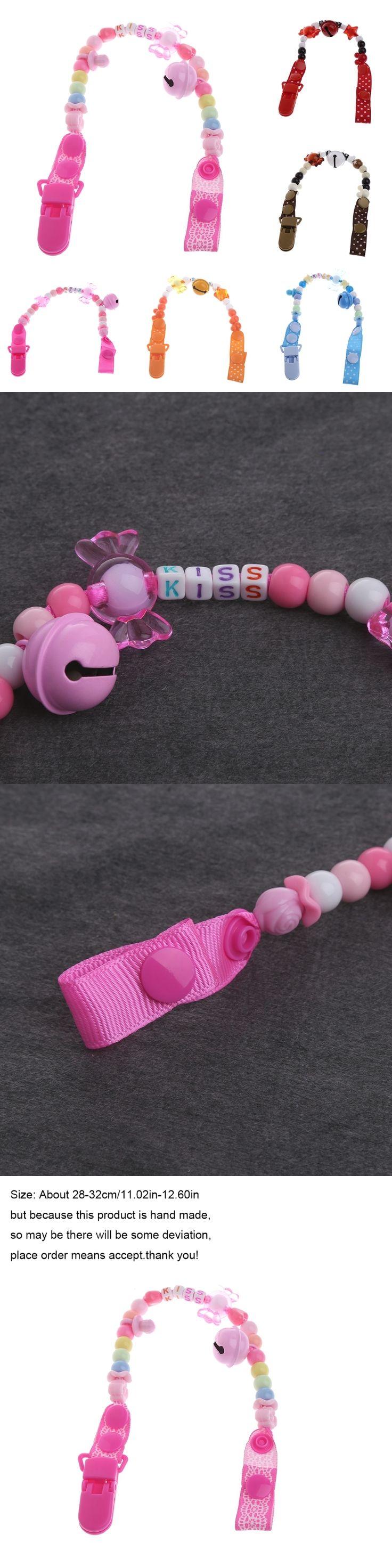 Babys Candy Beaded Pacifier Holder Clip Newborn Nursing Teething Dummy Chain DIY-P101