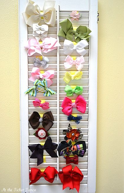 Hey Kelly and Amy, what do you think?...<3mom....Shutter Bow Holder from At The Picket Fence