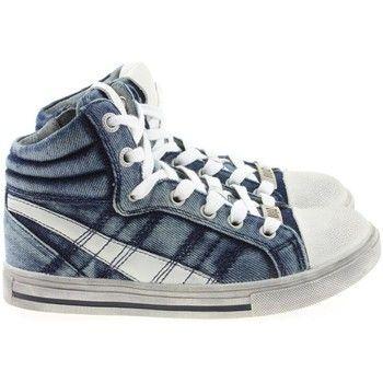 iconische Braqeez jongens hoge schoenen jongens sneakers (Blauw)