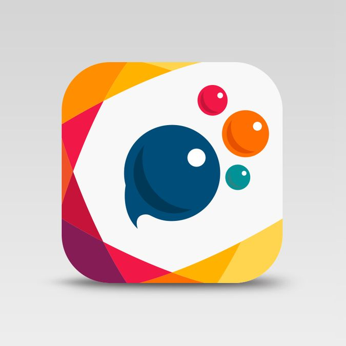 Create a new app icon for PicsArt, the