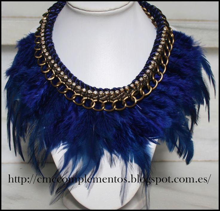 cmc collar de plumas