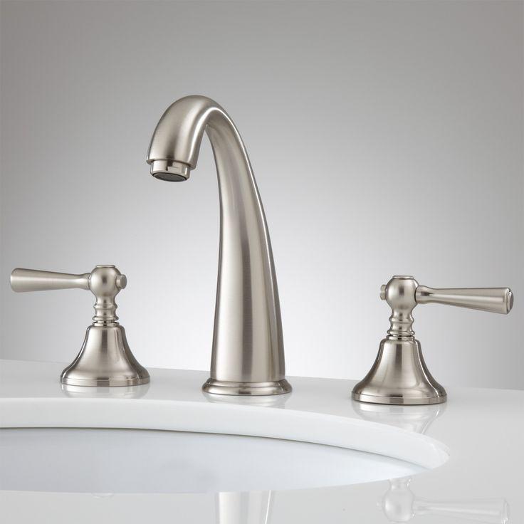 Breda Widespread Bathroom Faucet   Lever Handles   Bathroom Sink Faucetsu2026