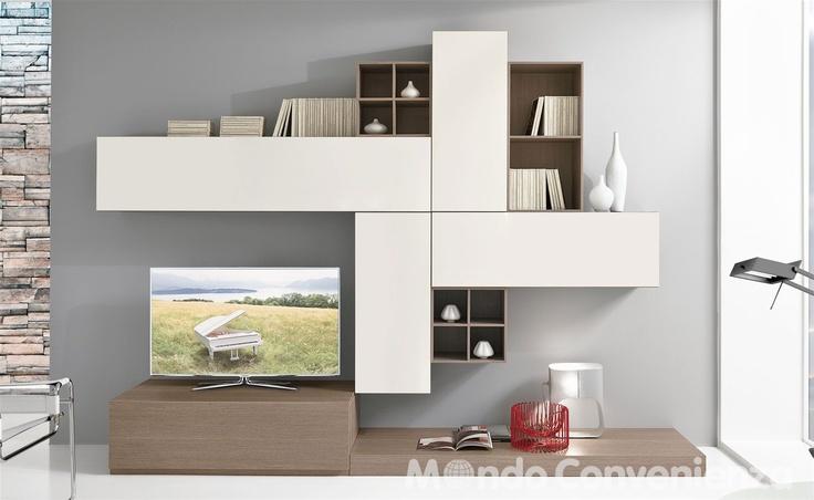 Soggiorno moderno angolare: soggiorno moderno libreria living ...