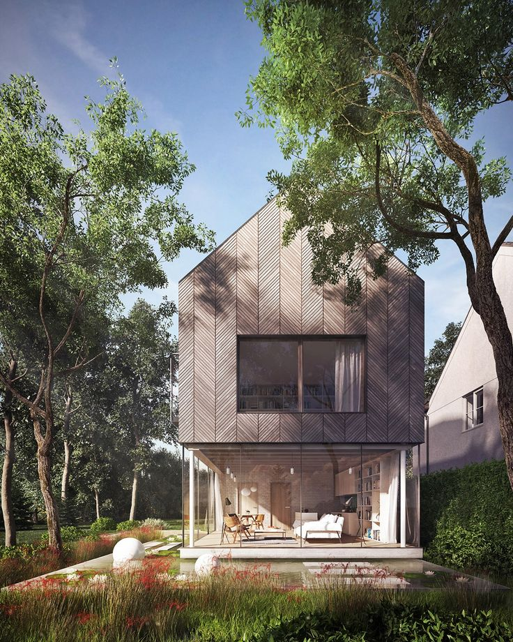 By surrounding the ground floor of this super creative house with glass, you put your whole life on display. But if you live in this house, chances are that's just what you want.