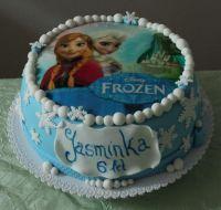 Patrový dětský dort Ledové království Frozen foto Elsa a Anna | www.restaurace-bobovka.cz | www.futurama-caffe.cz