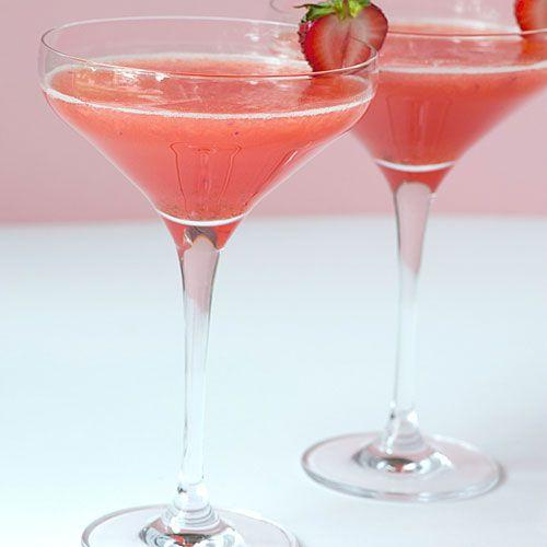 Strawberry Shortcake Martini made with cake flavored vodka
