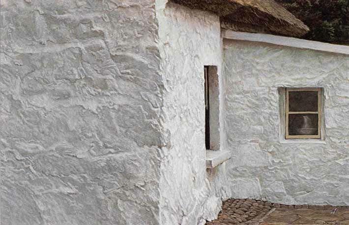 Robert Bateman Irish Cottage and Wagtail