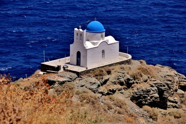 Lovely chapel of Seven Martyrs, at Kastro Sifnos
