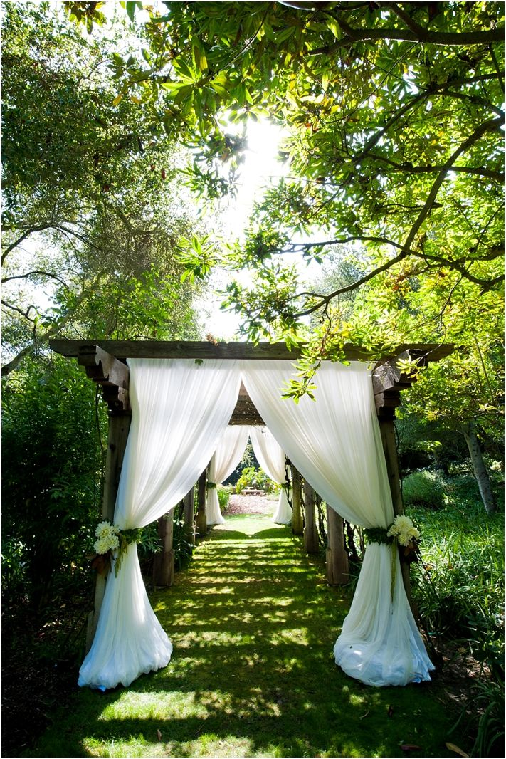 path to the party...love this idea for an outdoor wedding and reception!...it'd be neat to build it for your wedding and then later use it at your home so every time you walked through it you'd get deja vu of your wedding.