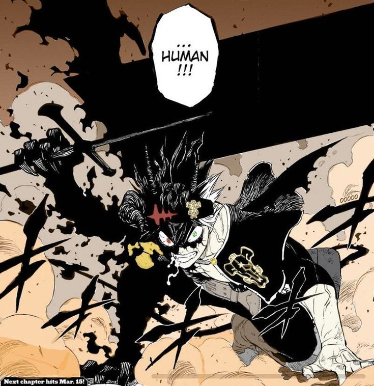 Colored demon possessed asta blackclover in 2020 anime