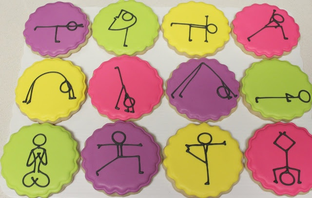 Yoga Cookies! Cute and hilarious!