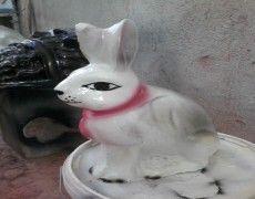Concrete Rabbit Statue