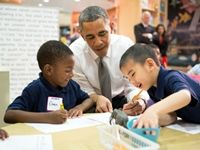 On Tuesday, President Barack Obama pushed for at least $750 million in targeted funds in his $3.9 trillion 2015 budget to lay the foundation for universal preschool programs. Obama spoke at a D.C. elementary school that participates in a pre-kindergarten program.