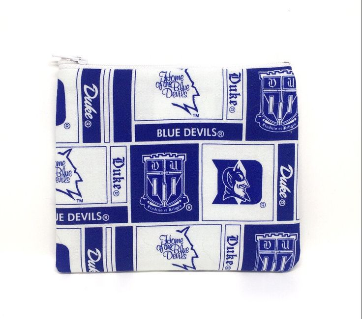 A personal favorite from my Etsy shop https://www.etsy.com/listing/273560754/small-duke-university-pouch-duke-fabric