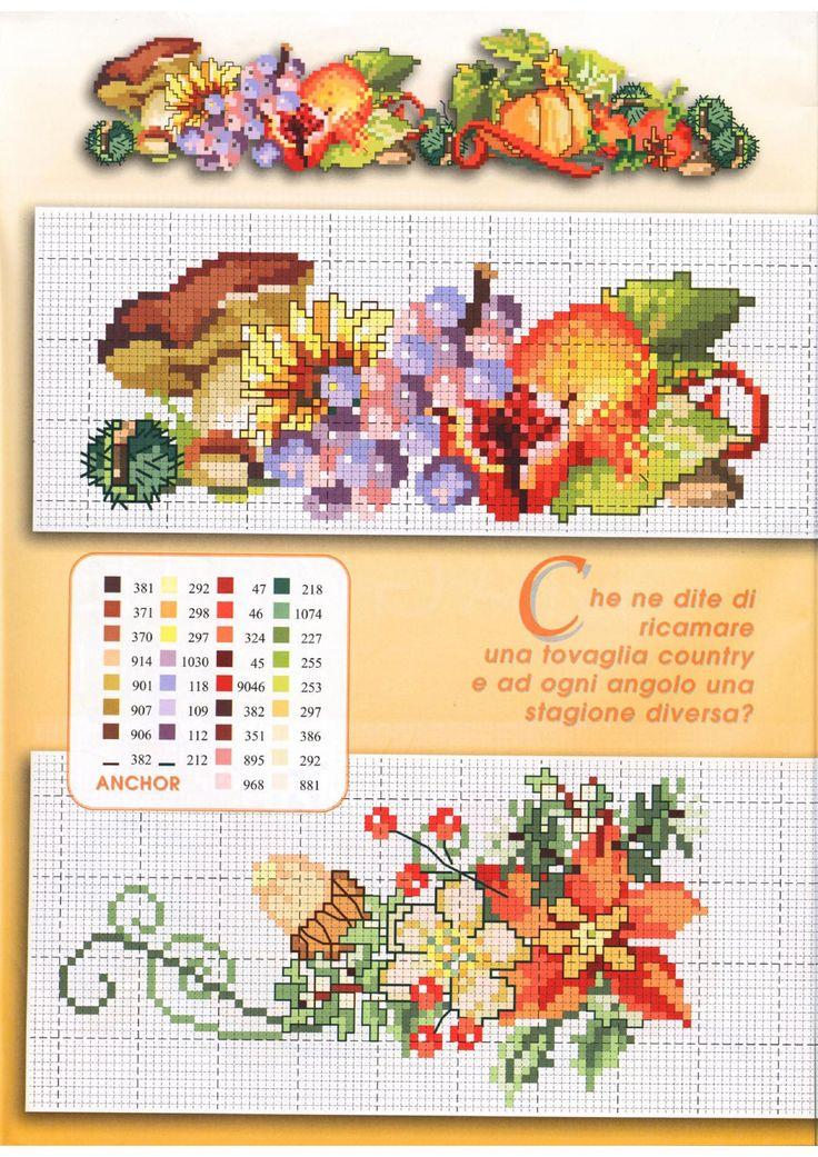 Flowers cross stitch