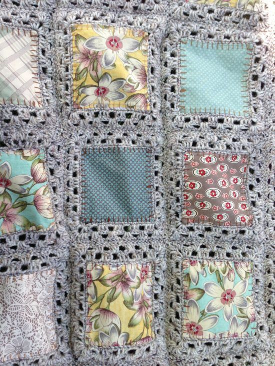 Fabric Crochet Quilt Is The Project You've Been Looking For