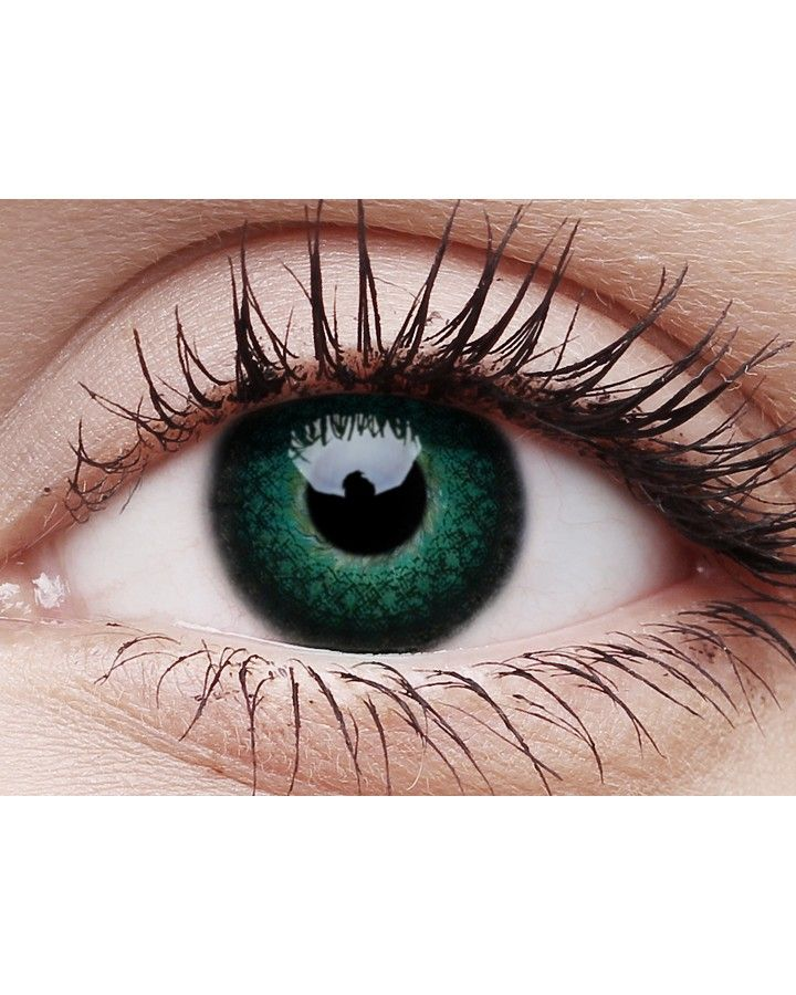 Lush Green Contact Lenses and Case