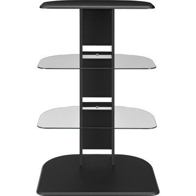 galaxy audio stand with glass shelves black altra