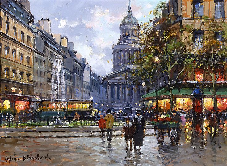 "Antoine Blanchard -     ""The Pantheon"""