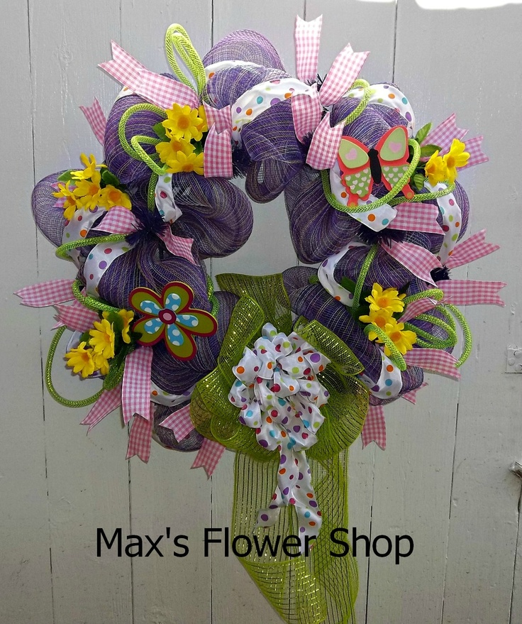 Spring Wreath  Max's Flower Shop  Murrayville, GA