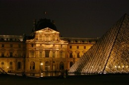 The Louvre at night. - this link has information about Paris museum passes, and how to know when the Louvre is least crowded, without waiting in a long line.